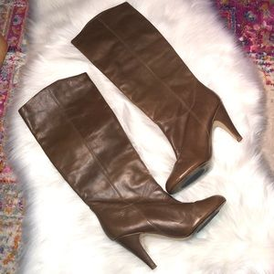 ALDO Brown Knee High Pull On Boots